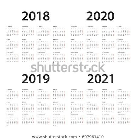 Eenvoudige kalender lay-out jaar week Stockfoto © olehsvetiukha