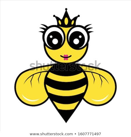 honingbij · cute · mascotte · werknemer - stockfoto © hittoon