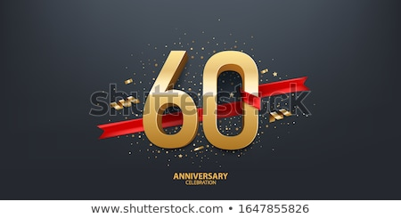 Sixtieth Anniversary Celebration Number Vector Stock photo © pikepicture