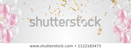 Decoratie bruiloft viering feestelijk vector realistisch Stockfoto © pikepicture