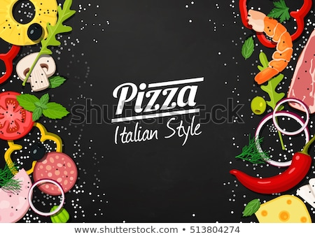 Italien pizza restaurant authentique recettes logo Photo stock © robuart