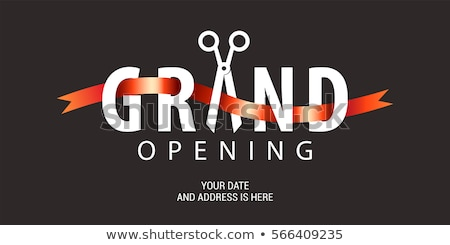 grand opening black banner design Stock photo © SArts