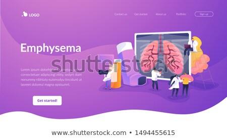 Alérgico aterrizaje página hombre sufrimiento asma Foto stock © RAStudio
