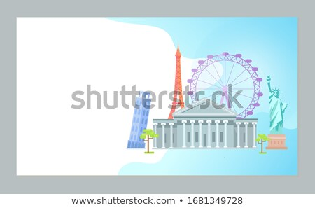 Time to Travel, Pisa Tower, Ferris Wheel Paris Stock photo © robuart