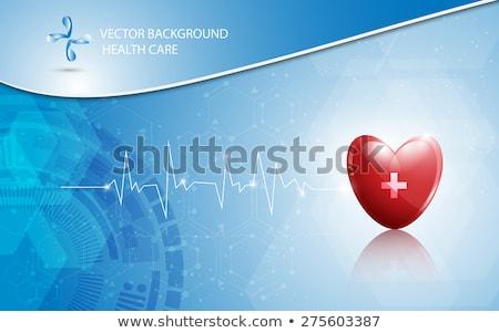 vektör · logo · kalp · çapraz · stetoskop - stok fotoğraf © haris99
