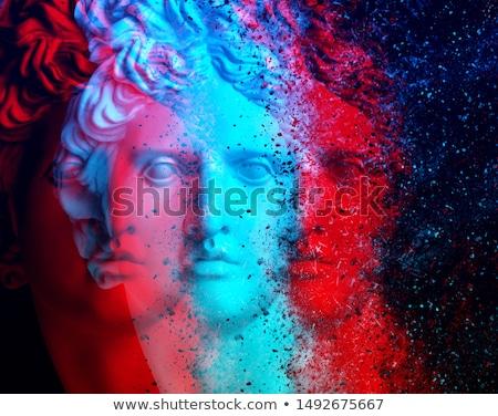 Színes múzeum minta izolált kék grafikai tervezés Stock fotó © netkov1