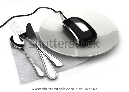 Online order concept with tableware stock photo © ra2studio