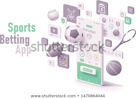 Vektor sportok fogadás app online okostelefon Stock fotó © tele52