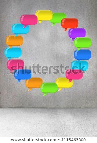 Stockfoto: Chatten · bubble · kamer · digitale · composiet · abstract