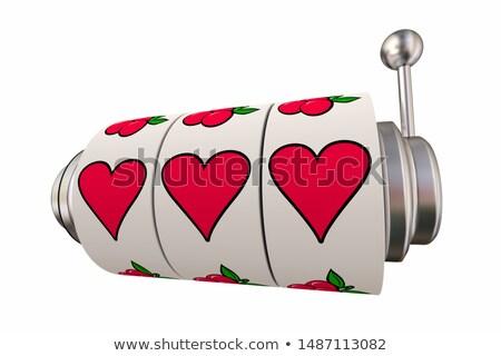 Szerencsés szeretet hazárdjáték románc játékautomata szívek Stock fotó © iqoncept