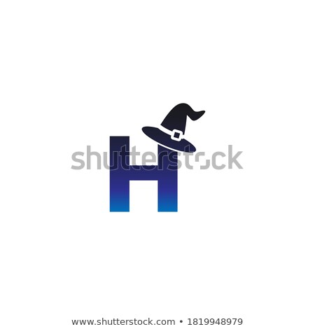 Vector illustration of a cartoon Halloween witch hat. Witch hat with buckle isolated on white backgr Stock photo © MarySan