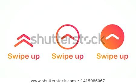 Foto stock: Para · cima · conjunto · botões · seta · ícone · web