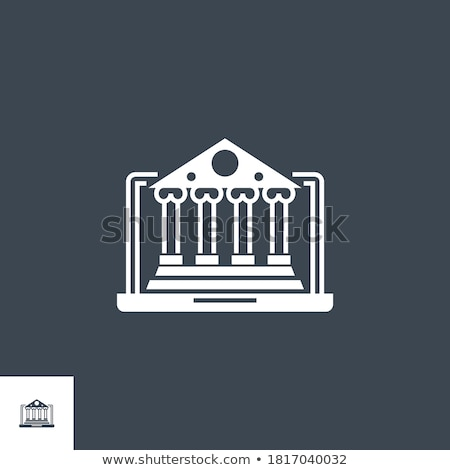 Internet Banking related vector glyph icon. Stock photo © smoki