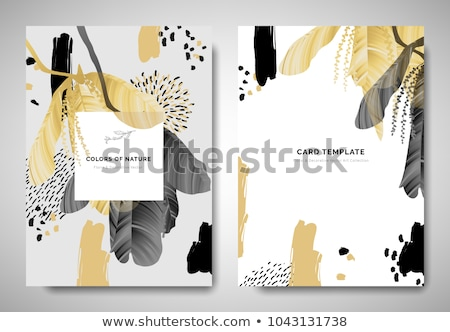 Background template with yellow dash line Stock photo © bluering