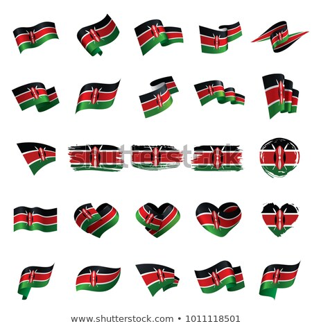 National flag of the Kenya in the shape of a heart and the inscription I love Kenya. Vector illustra Stock photo © butenkow
