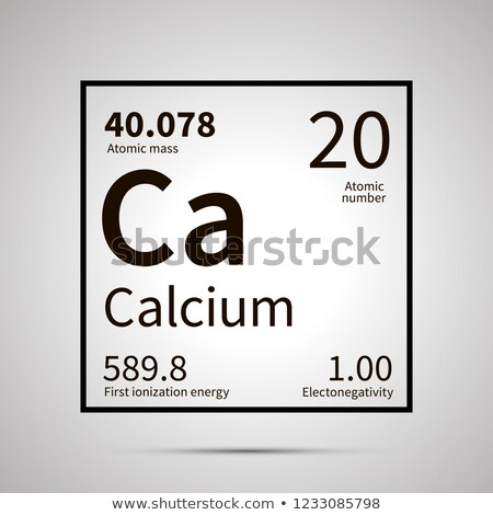 Calcium chemical element with first ionization energy, atomic mass and electronegativity values ,sim Stock photo © evgeny89