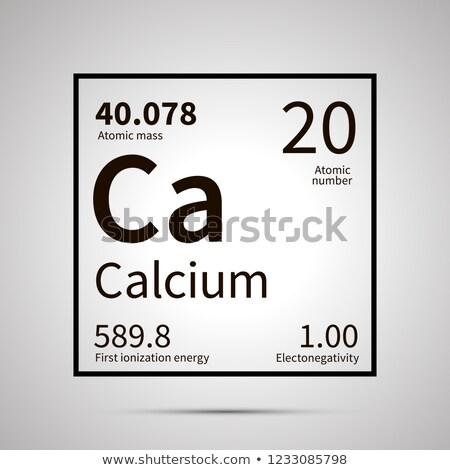 Calcium chimiques élément première énergie atomique Photo stock © evgeny89