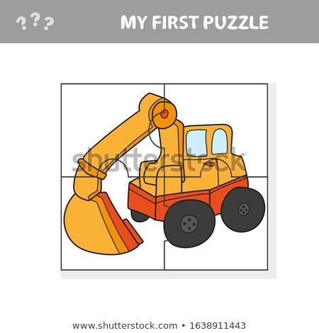 Divertente cartoon escavatore educativo gioco ragazzi Foto d'archivio © natali_brill