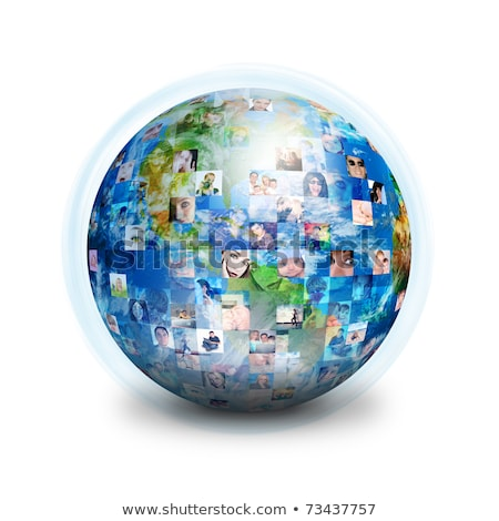 many different people on the globe Stock photo © marish
