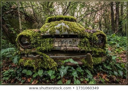 Eski terkedilmiş araba turuncu kir hava Stok fotoğraf © duoduo
