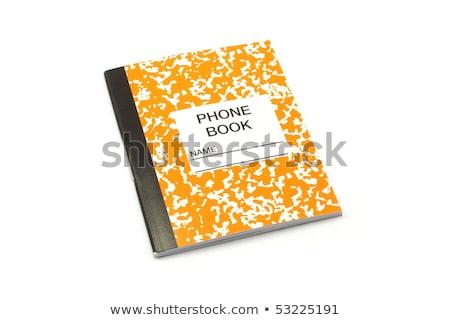 Pici narancs fehér telefon könyv címkönyv Stock fotó © mybaitshop