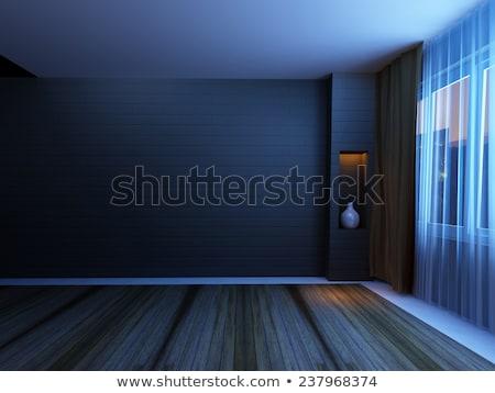 prisão · janela · ver · barras · arame · farpado · parede - foto stock © johnnychaos