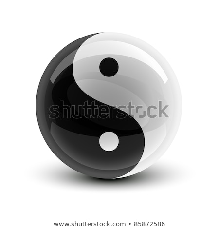 Yin and Yang ball Stock photo © tilo