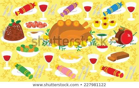 Engels Christmas Tabel Ingesteld Lunch Kaarsen