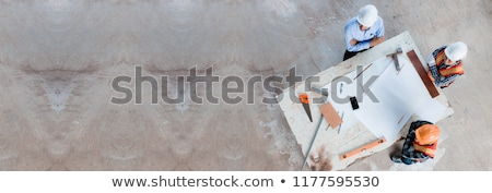 Foreman on a construction site Stock photo © photography33