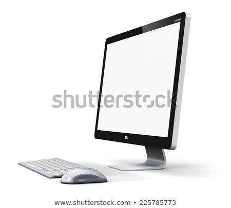 компьютер рабочая станция изолированный контроля клавиатура мыши Сток-фото © dmitry_rukhlenko