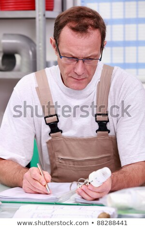 craftsman in his office describing a product Stock photo © photography33