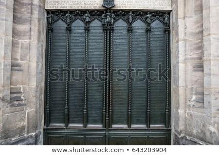 vitrais · porta · janela · uva · folha - foto stock © sirylok