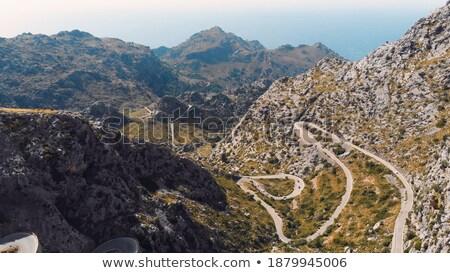 road in balearic landscape on spanish island mallorca Stock photo © juniart