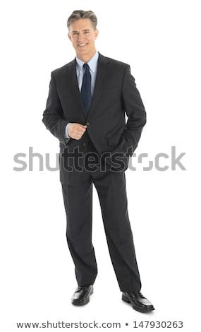 anonim · üzletember · kezek · ki · szürke · férfi - stock fotó © rtimages