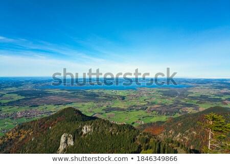 autumn on lake chiemsee in bavaria germany stock photo © haraldmuc