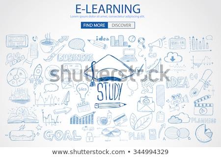 Tanul siker nyilak szavak 3D színes Stock fotó © marinini