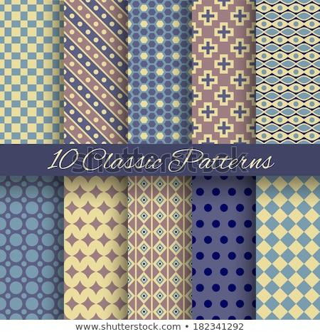 Szett klasszikus rongyos stílusos minták mértani Stock fotó © H2O