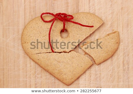 kek · ahşap · masa · kalp · rustik · ahşap - stok fotoğraf © justinb
