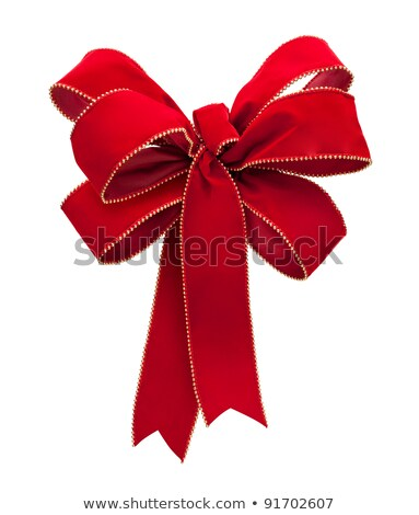 Red Velvet Bow isolated on white Stock photo © danny_smythe
