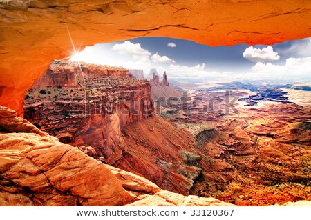 Red Mesa Orange Rocks Canyon Arizona Stock photo © billperry