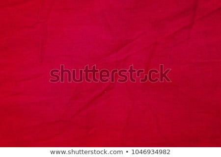 Cotton Fabric Texture - Red with Seam Stock photo © eldadcarin