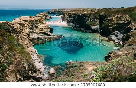синий морем пород Португалия пляж небе Сток-фото © inaquim