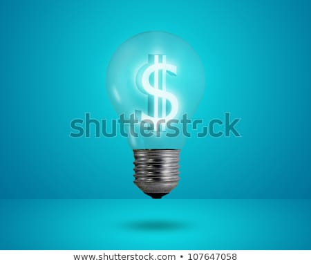 Ampul dolar simge amerikan bayrağı iş ışık Stok fotoğraf © vladodelic