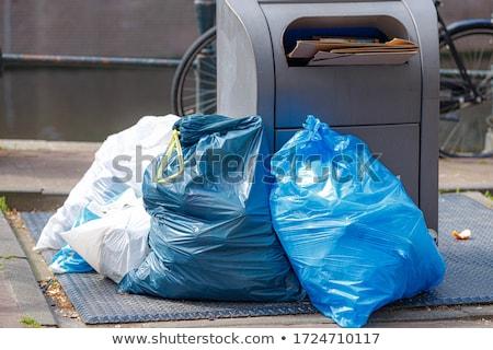 ゴミ · 通り · 黒 · 家 · 市 · バスケット - ストックフォト © zzve