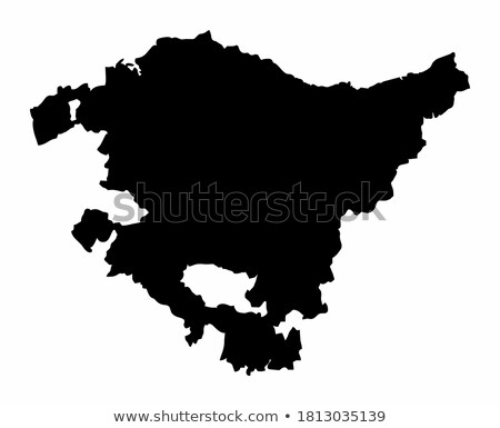 Stock photo: Map of Europe with Basque Country