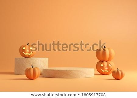 halloween in 3d cubes stock photo © marinini