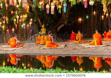 Inside a buddhist temple Stock photo © Hofmeester