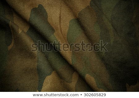 hunter silhouette on the camouflage background stock photo © bokica