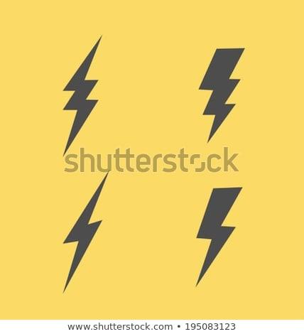 власти · Молния · признаков · электроэнергии · желтый - Сток-фото © unkreatives
