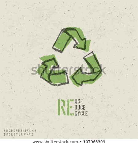 Alphabet A Recycle Symbol Foto stock © pashabo